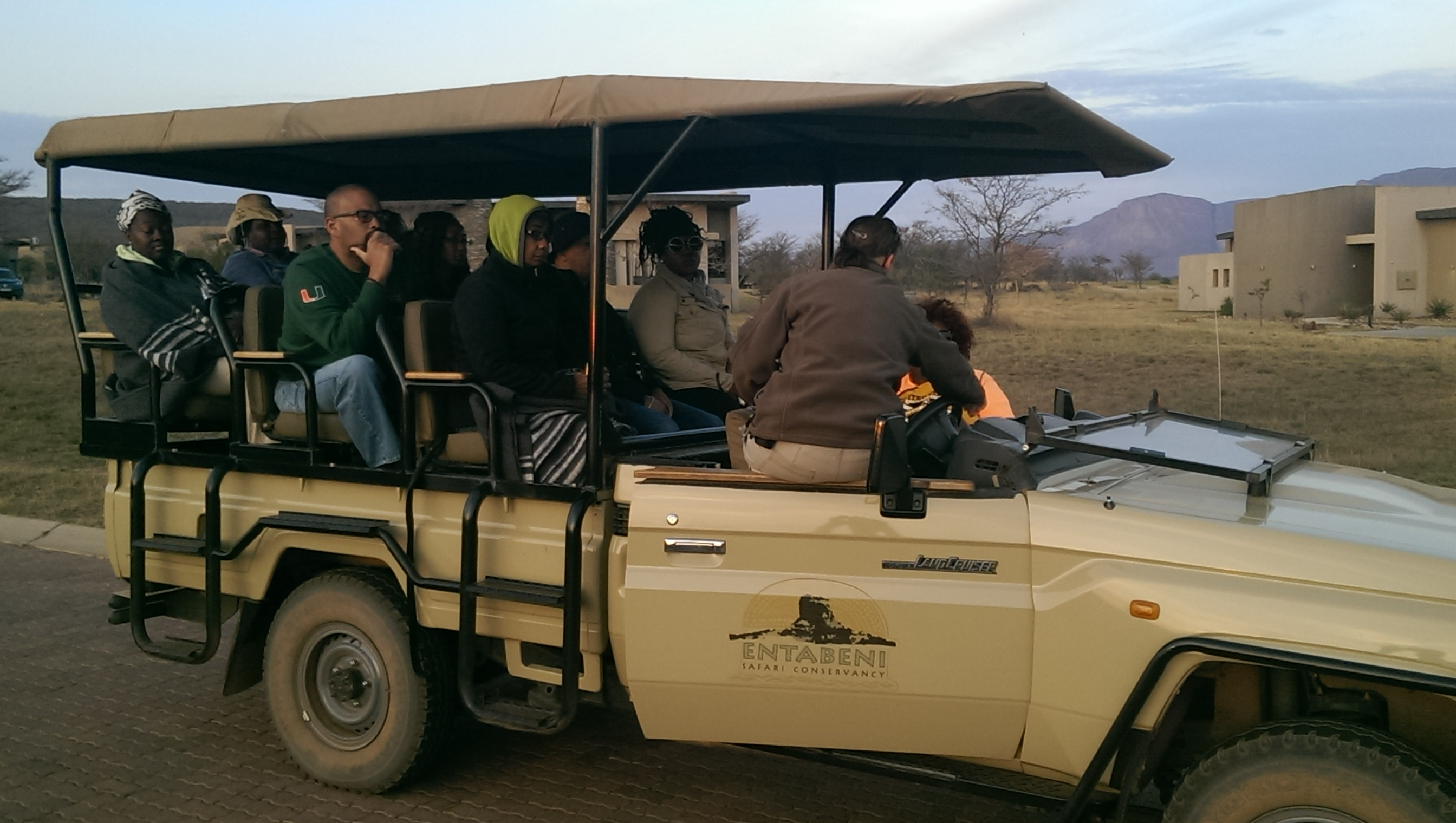 Radio show host Doug Banks on safari
